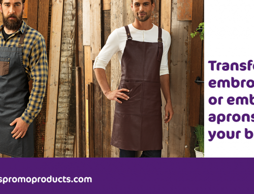Transfer, embroider or emboss aprons for your business